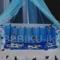 Box Bayi Kayu Blue Cow