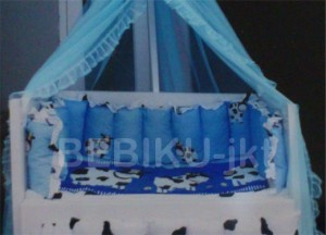 Box Bayi Kayu Blue Cow