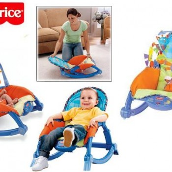 bouncer-bayi-FisherPriceNewbornRocker-blue