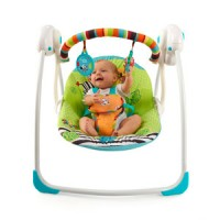 Bright Starts Zebra Baby Swing